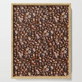 Coffee Bean Photo Pattern Serving Tray