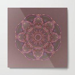 Purple Mandala Metal Print