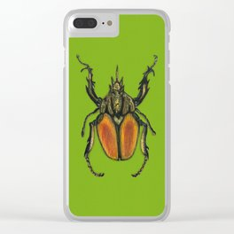 Scarabee vert Clear iPhone Case