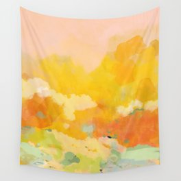 abstract spring sun Wall Tapestry