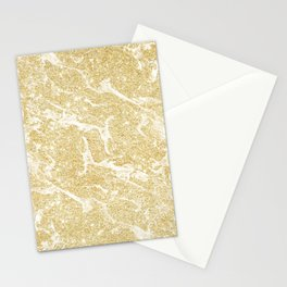 Modern faux gold glitter stylish marble effect Stationery Cards