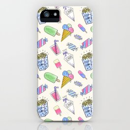 Popart candy and ice-cream iPhone Case
