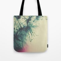 dandelion Tote Bags featuring dandelion by Ingrid Beddoes