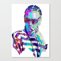 riff raff Canvas Prints featuring RIFF RAFF // NEXTGEN RAPPERS by mergedvisible