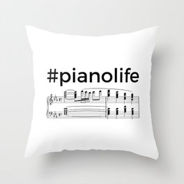 #pianolife Throw Pillow