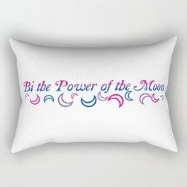 Bi the Power of the Moon | Falling Crescents Rectangular Pillow