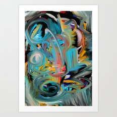 The Storm Abstract Expressionism Art Art Print