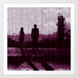 Watching the Refinery Art Print