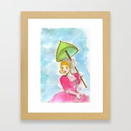 the fair Katrina Framed Art Print