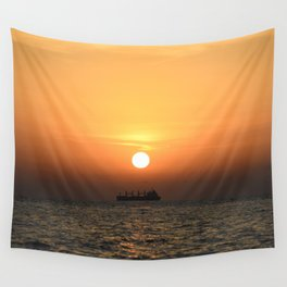 Heart in Sunset 1 Wall Tapestry