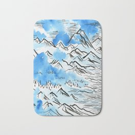 The Pyrenees as they appeared to me... Bath Mat
