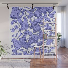 Retro Gamer - Blue Wall Mural