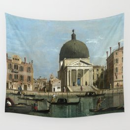 Venice: S. Simeone Piccolo by Follower of Canaletto Wall Tapestry