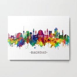 Baghdad Iraq Skyline Metal Print
