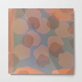 Peachy Colors Metal Print