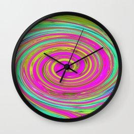 Groovy Abstract Pink Swirl Art 094 Wall Clock