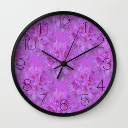 Rhododendron Bouquet 3 Wall Clock