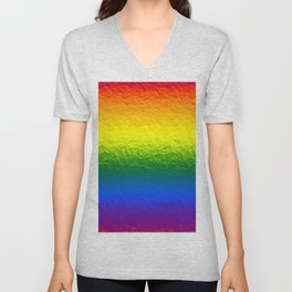 Rainbow Gradient Painted Pattern Unisex V-Neck