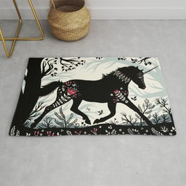 Folk Unicorn Rug