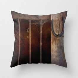 With A Little Luck Throw Pillow