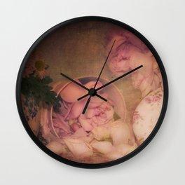 Candy Box Roses Wall Clock