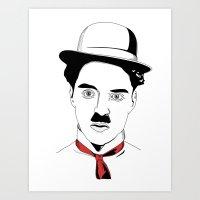charlie chaplin Art Prints featuring Charlie Chaplin by ArpanDholi