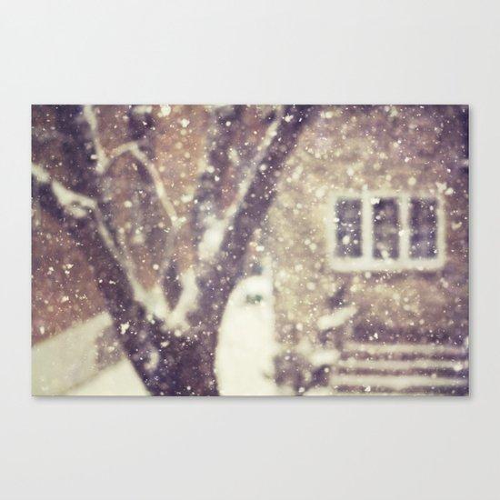 the white stuff Canvas Print