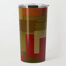 Red Color Geometry Travel Mug