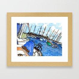 Boats at the Marina Framed Art Print
