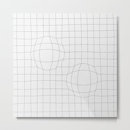 Two Spheres Metal Print