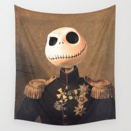 Jack Skellington General Portrait Painting | Fan Art Wall Tapestry