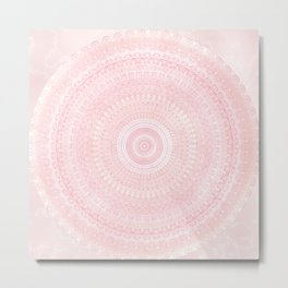 Pastel Pink Mandala Metal Print