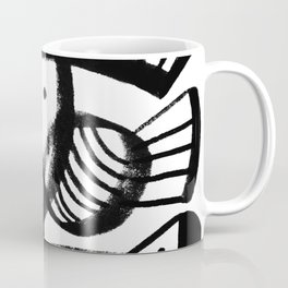 Black and white abstract mid century Coffee Mug