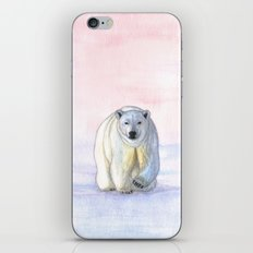 Polar bear in the icy dawn iPhone & iPod Skin