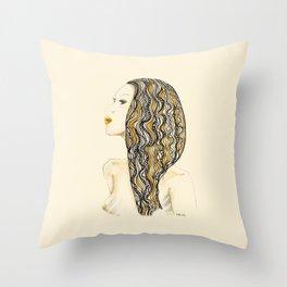 yellow rasta Throw Pillow