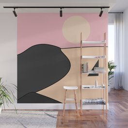 Happy Place - Black Pink Wall Mural