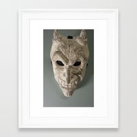 celtic Framed Art Prints featuring celtic demon by ronnie mcneil
