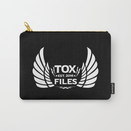 Tox Files - White on Black Carry-All Pouch