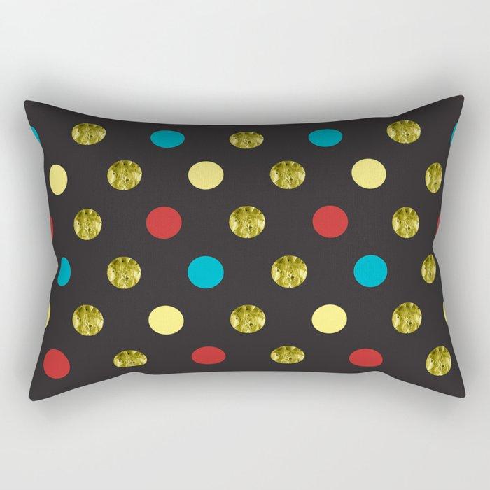 Golden Dots Rectangular Pillow