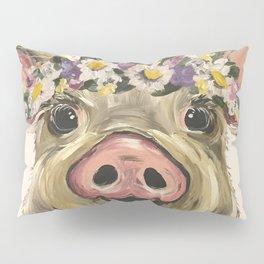 Farm Animal Art, Pig Art Pillow Sham