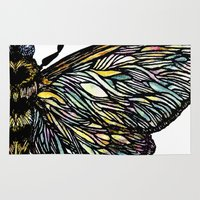 moth Area & Throw Rugs featuring moth by DiegoC