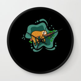 Sloth Lazy Tired Chilled Hang Out Wall Clock
