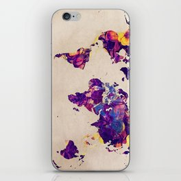 world map 20 iPhone Skin