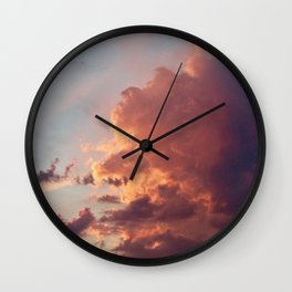 Sunset clouds Wall Clock