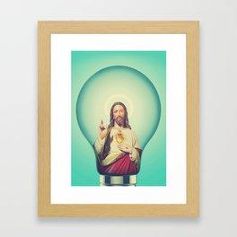 Jesus christs best trick Framed Art Print