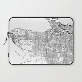 Vancouver White Map Laptop Sleeve