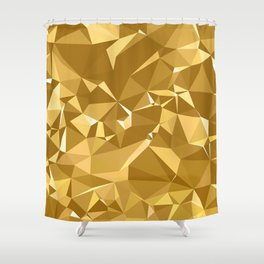 Gold Triangles Shower Curtain