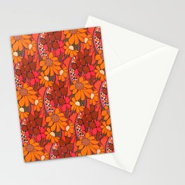 Groovy Flowers Stationery Cards