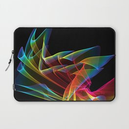Dancing Northern Lights, Abstract Summer Sky Laptop Sleeve