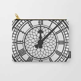 Big Ben, Clock Face, Intricate Vintage Timepiece Watch Carry-All Pouch